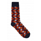 Burnt Orange Geo Socks