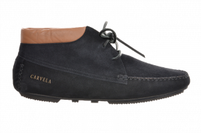 Carvela 392u Suede Boot With Leather Collar