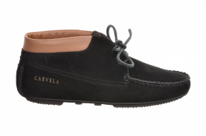 Carvela 392D Suede Boot With Leather Collar