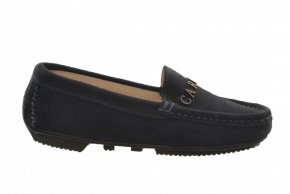 Carvela 1212 Kids Suede Metallic Moccasin