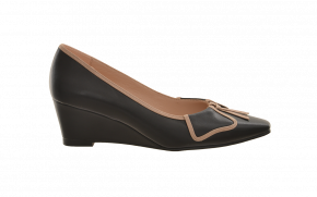 Saffron Browne Fold Over Wedge Pump