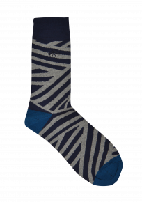 Grey/navy Zebra Socks