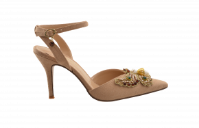 J Renee Pointy Jewel Butterfly Trim Heel