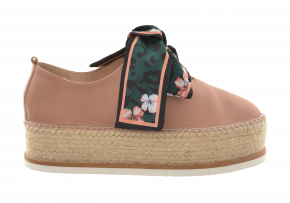 Nina Roche Round Toe Lace-Up Espadrille