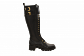 Kurt Geiger Double Buckle Laced Long Boot